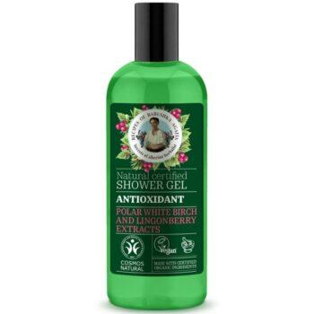 Babushka Agafia Antioxidáns tusfürdő gél sarki fehérnyír- és vörösáfonya-kivonattal - 260ml
