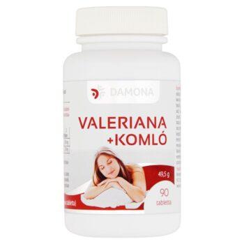 Damona Valeriana + Komló tabletta - 90db