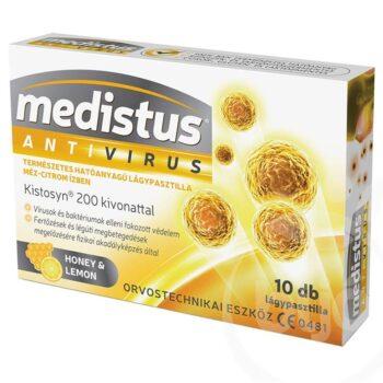 Medistus Antivírus Méz-Citrom lágypasztilla - 10db